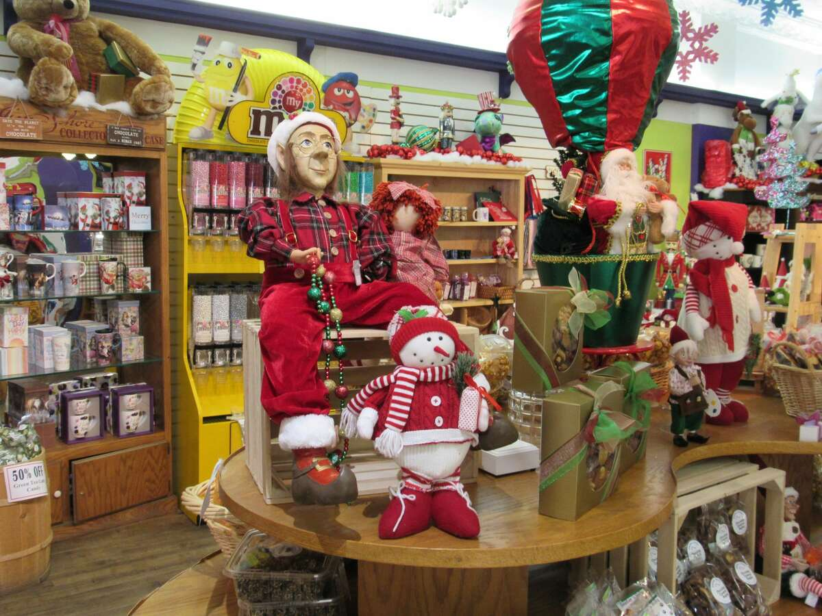 A display of holiday-themed merchandise stands on display in Heather 'n Holly on Saturday, Dec. 5 in downtown Midland. Holly Jolly Days continue 10 a.m.-5 p.m. every day through Sunday, Dec. 13.