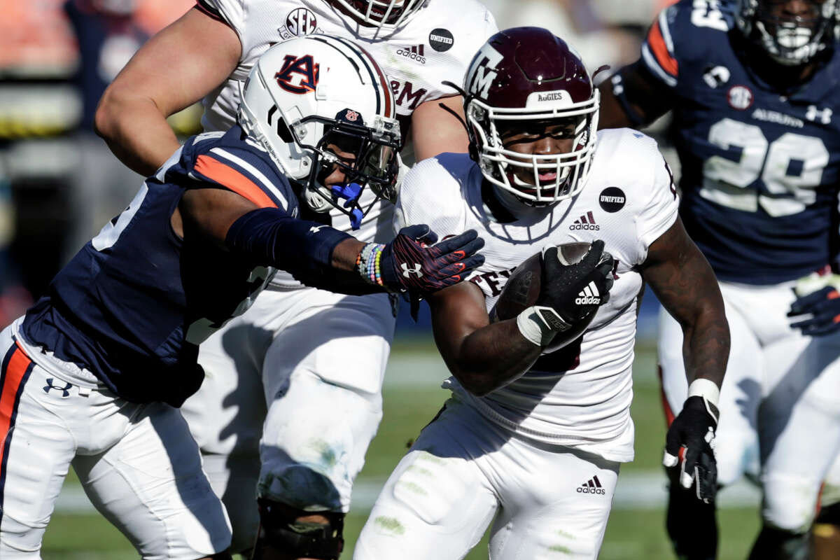 Devon Achane and Texas A&M won at Auburn last weekend but will not play Saturday after their game against Mississippi was canceled for COVID-19 reasons.