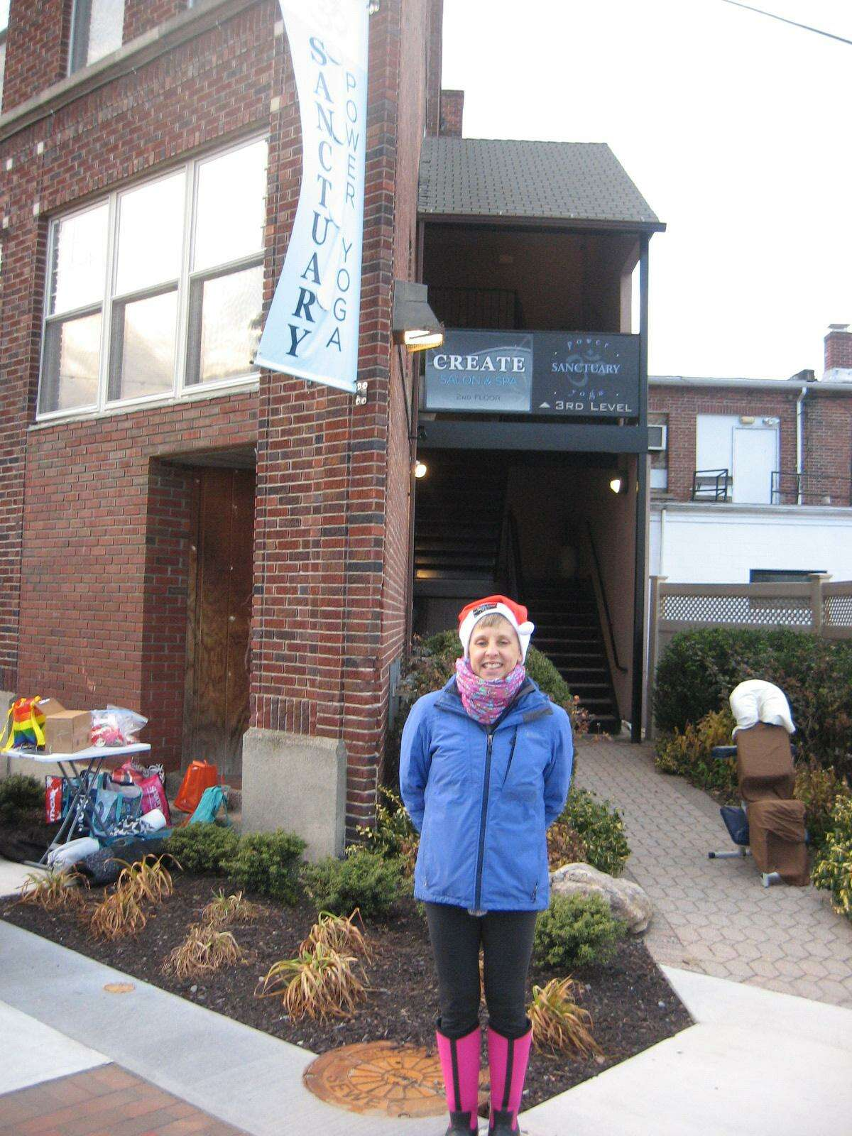 Heather Rems Korwin, owner of Sanctuary Yoga at Franklin Plaza in Torrington, organized