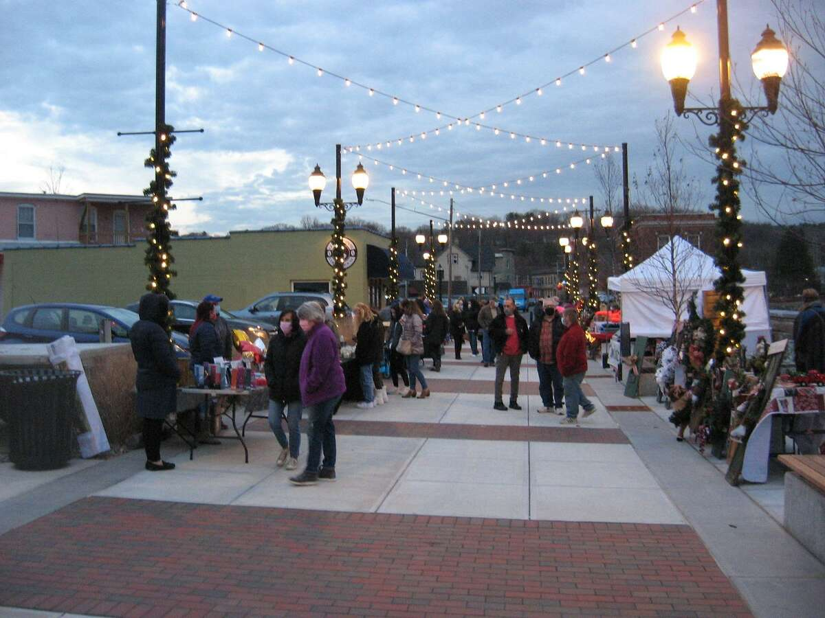 """""""Festive on Franklin"""" was held in December 2020 at Franklin Plaza off East Main Street in Torrington, which is closed to traffic. Organizers hoped to hold a seasonal farmers market there, but don't think they should have to pay the city's required fees."""