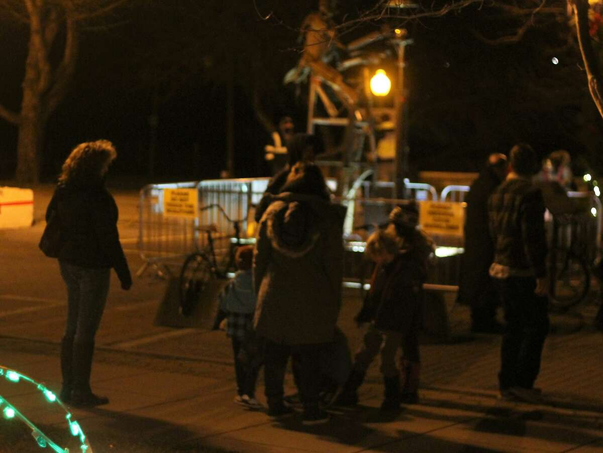 The Sleighbell Committee spread some holiday cheer Saturday with a virtual tree lighting in downtown Manistee that was livestreamed on Facebook.