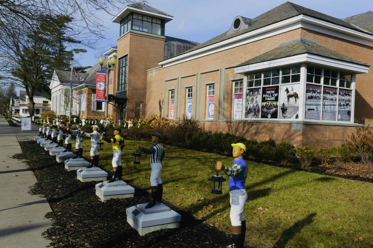 A view of The National Museum of Racing and Hall of Fame on Thursday, Dec. 3, 2020, in Saratoga Springs, N.Y. (Paul Buckowski/Times Union)