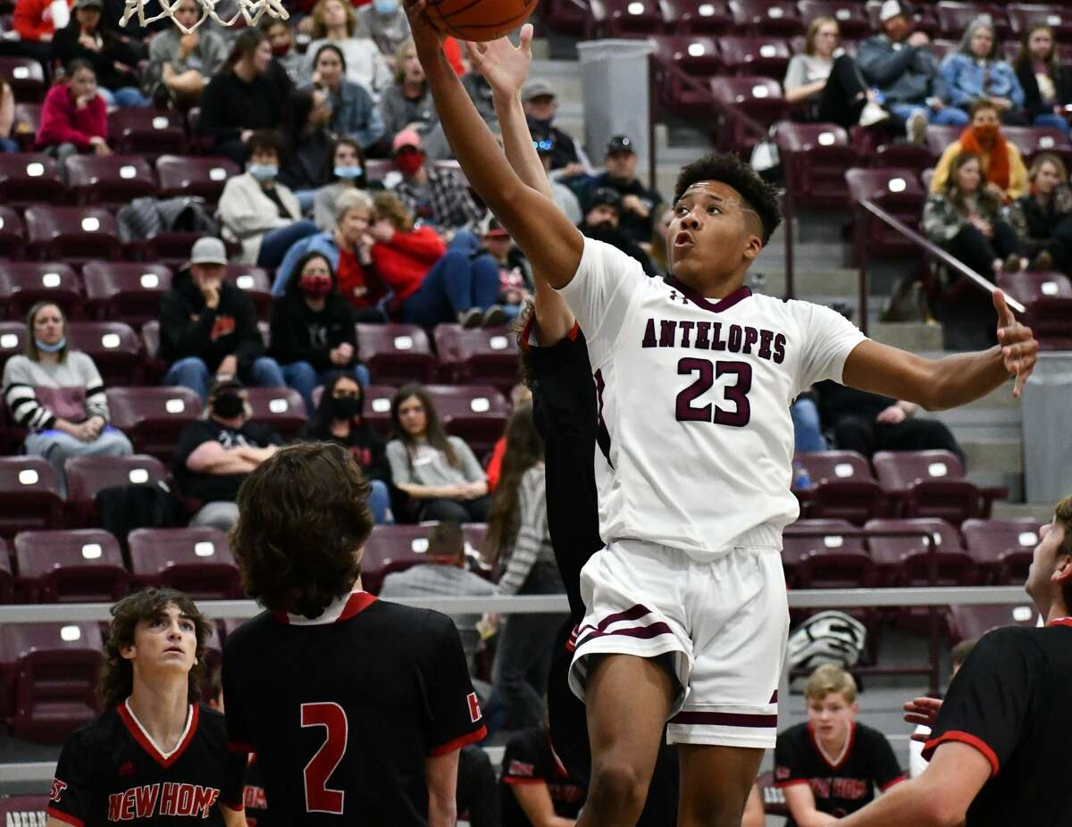Abernathy's Anthony White had 14 points in the Antelopes' 61-53 loss to New Home in a non-district boys basketball game on Saturday at Abernathy High School.