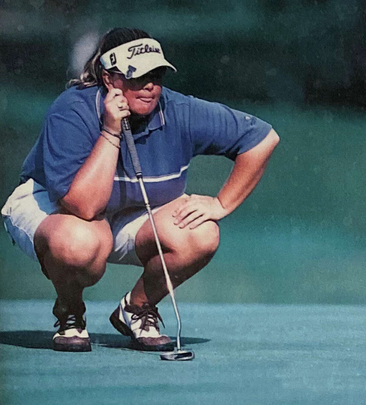 Colleen Cashman, 25, lines up a putt at the U.S. Open in 2002. She was on top of the leaderboard after 9 holes when she was a late-minute sub for Dottie Pepper. (Provided/U.S. Open Magazine)