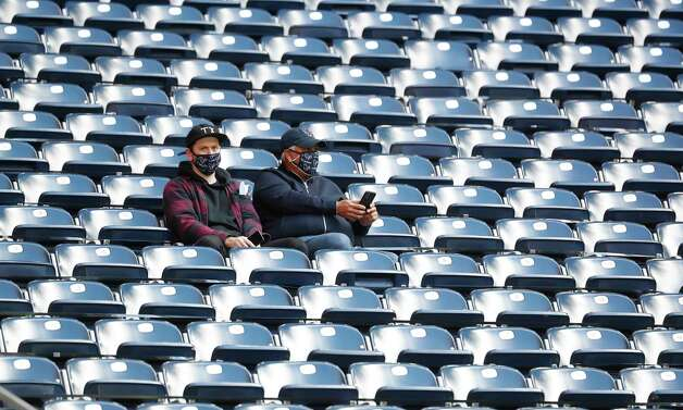 Houston Texans fans in the stands before the start of an NFL football game at NRG Stadium, Sunday, December 6, 2020, in Houston. Photo: Karen Warren, Staff Photographer / © 2020 Houston Chronicle