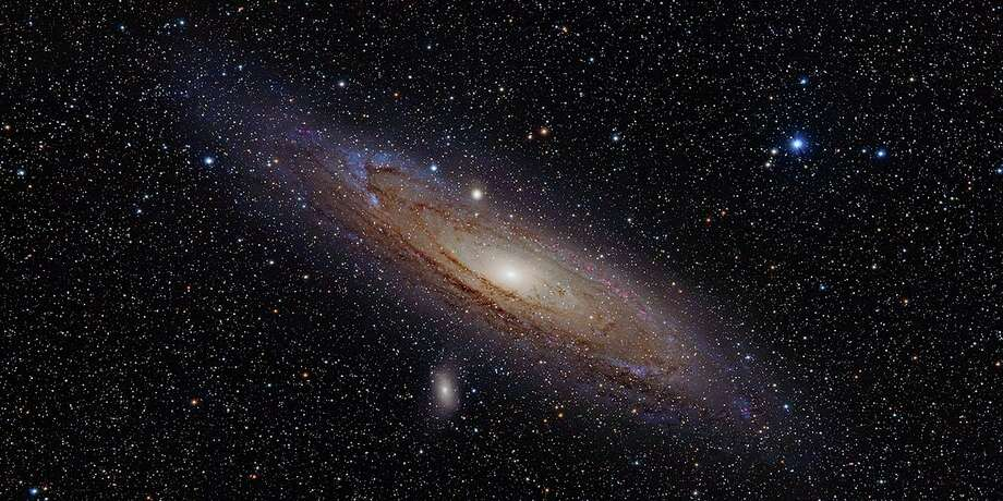 Andromeda Galaxy (with h-alpha) (MSU St. Andrews)