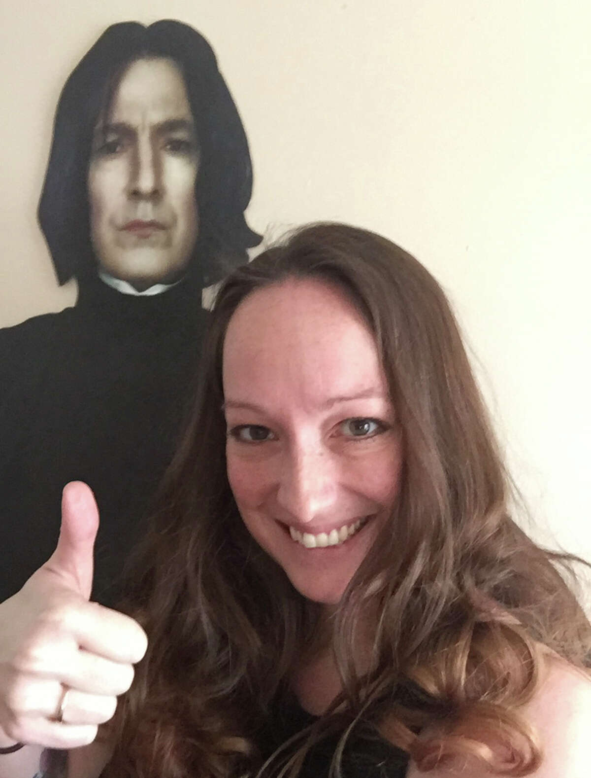2. I have a six-foot cardboard cutout of Severus Snape in my bedroom closet.