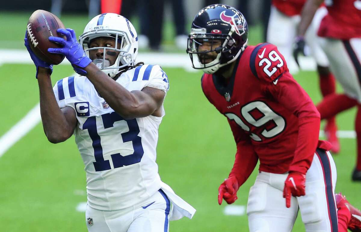 Colts receiver T.Y. Hilton, a Texans tormentor his whole career, figures to be a frequent target against a depleted Houston secondary Sunday.
