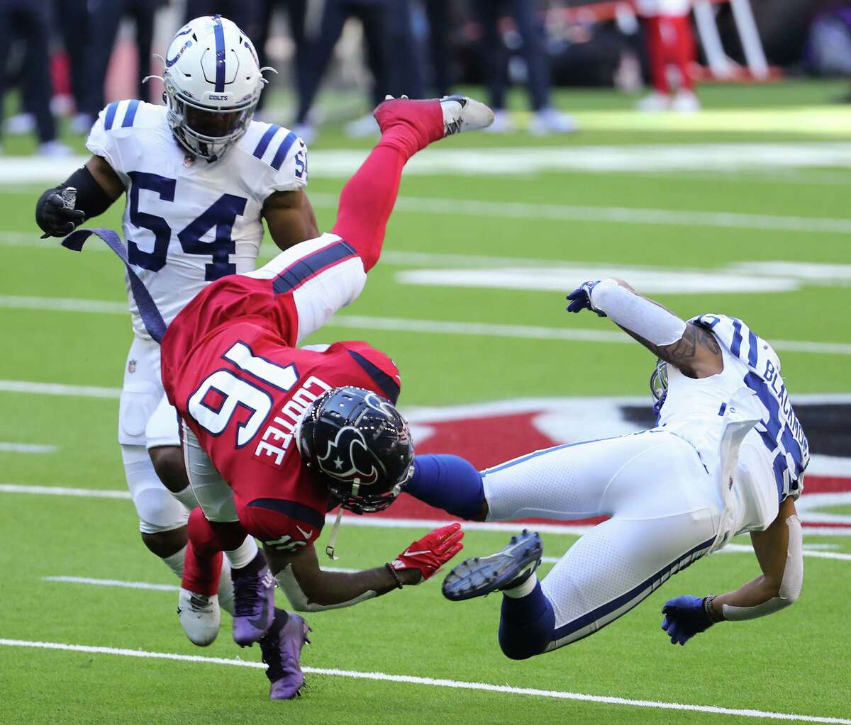 Keke Coutee figures to be in line for another day of high-volume targets given the Texans' receiver situation.