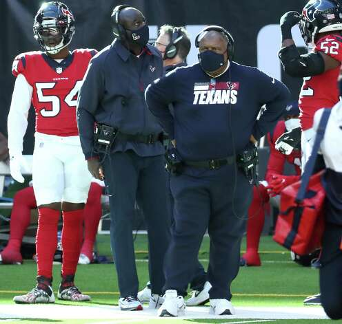 Houston Texans head coach Romeo Crennel stands on the sidelines during the fourth quarter of an NFL football game against the Indianapolis Colts at NRG Stadium on Sunday, Dec. 6, 2020, in Houston. Photo: Brett Coomer, Staff Photographer / © 2020 Houston Chronicle