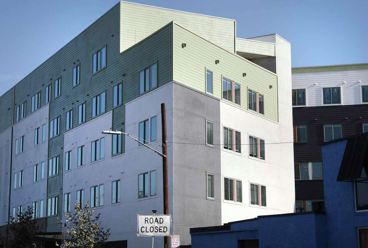 Museum Reach Lofts at West Jones Ave. and North St. Mary's Street is nearly finished.