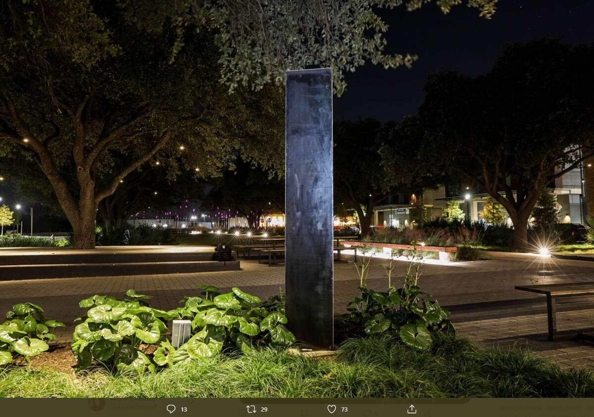 A metal monolith discovered on the campus of Austin Community College isn't as