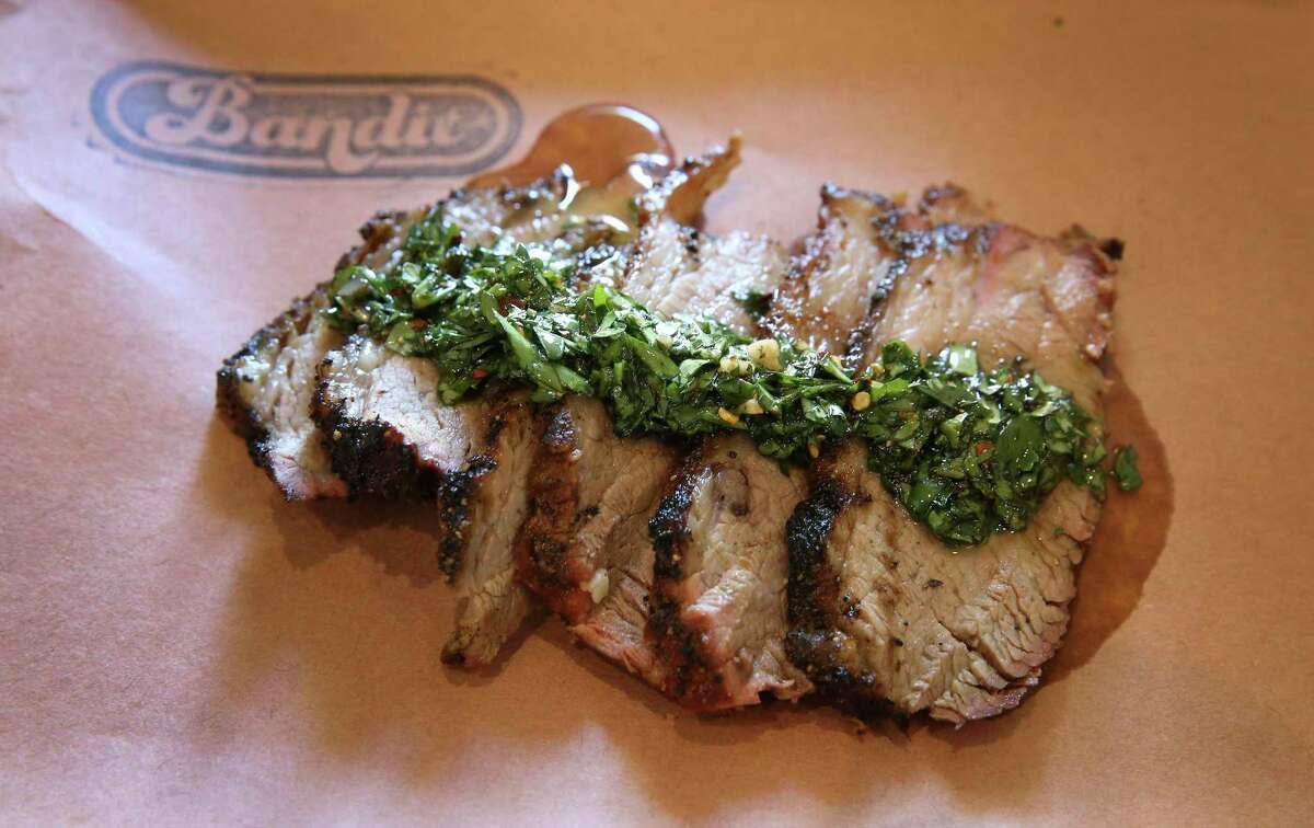 Smoked California Tri-Tip with Chimichurri at Bandit BBQ