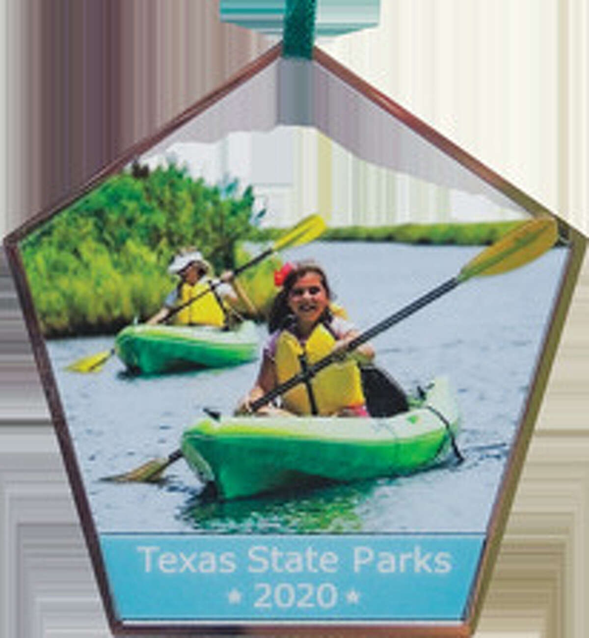 This year's Texas State Parks Christmas ornament features kayaking at Sea Rim State Park. Courtesy, Texas Parks & Wildlife Department.