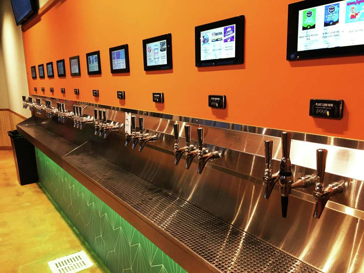 The Dooryard is outfitted with a tap system that allows customers to choose among 30 different beer, cider and seltzer options.