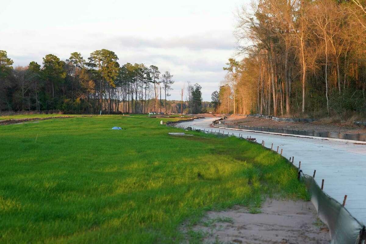 Cleared land along Woodland Hills Drive near Kingwood Park High School is shown Thursday, Jan. 23, 2020, in Kingwood.