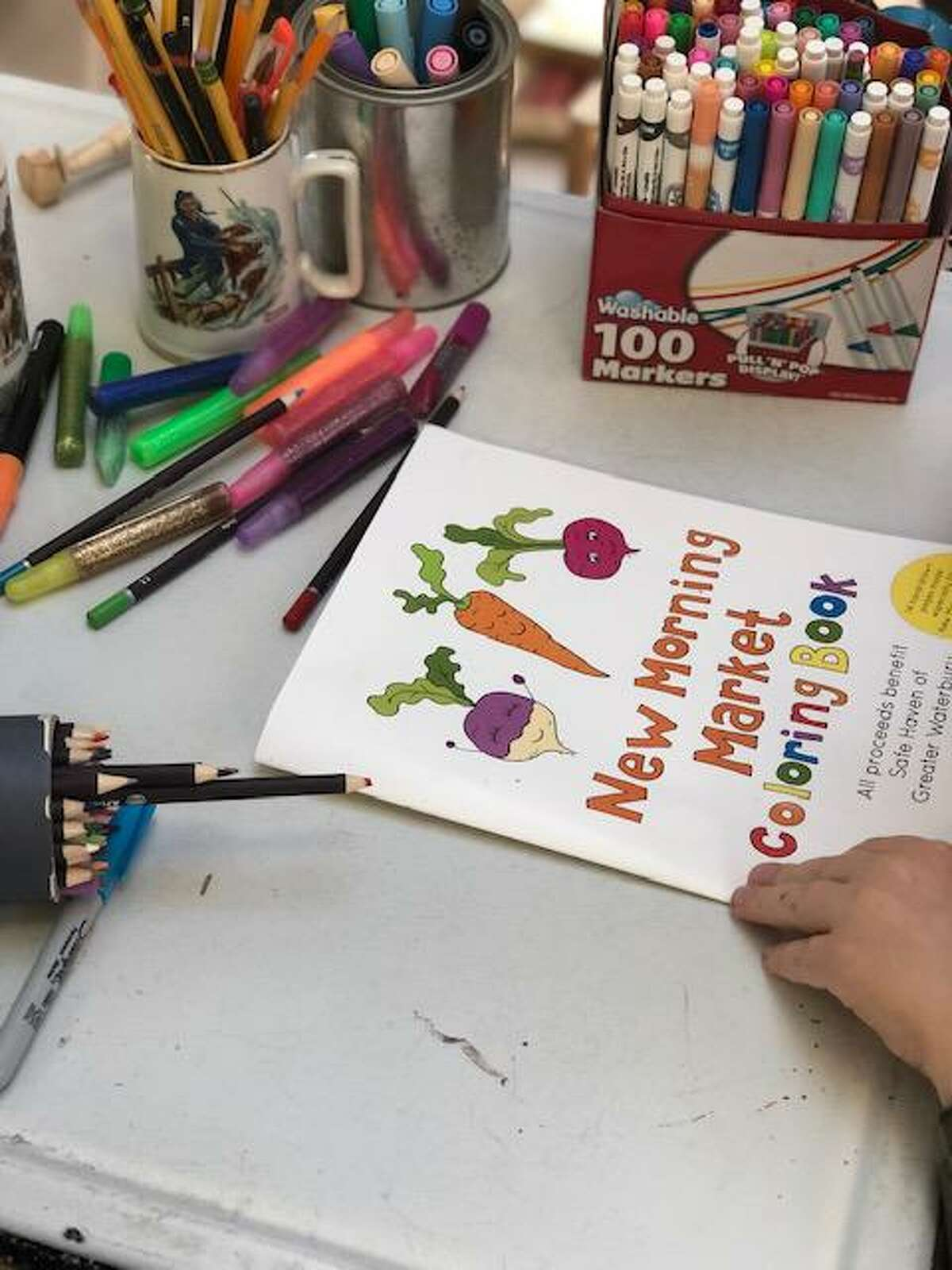 The New Morning Market coloring book is now available.