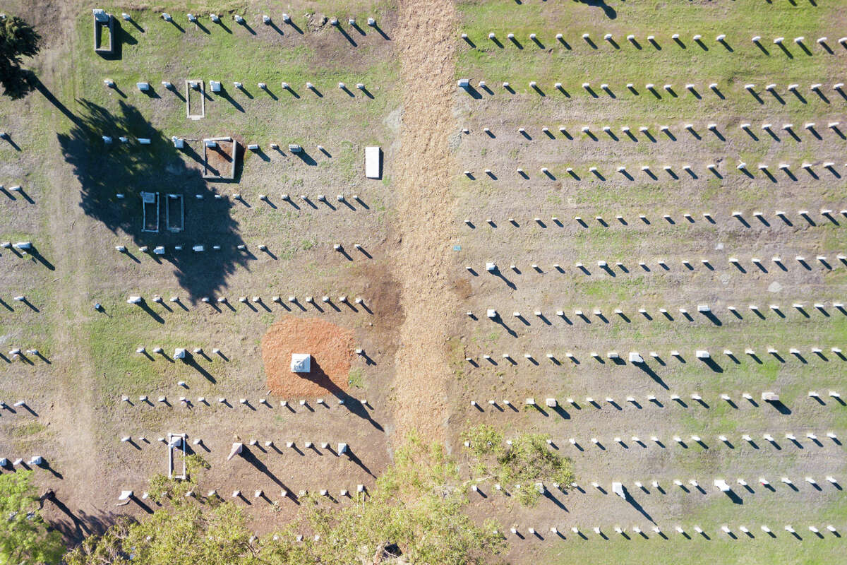 Mare Island Naval Cemetery was recently renovated. Shown Nov. 25, 2020, it is the oldest naval cemetery on the West Coast.