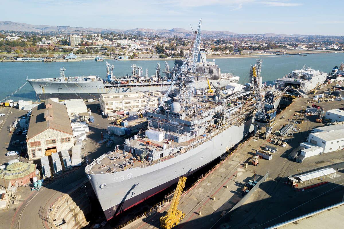 Mare Island, Vallejo, photographed Nov. 25, 2020, was once a bustling naval shipyard.