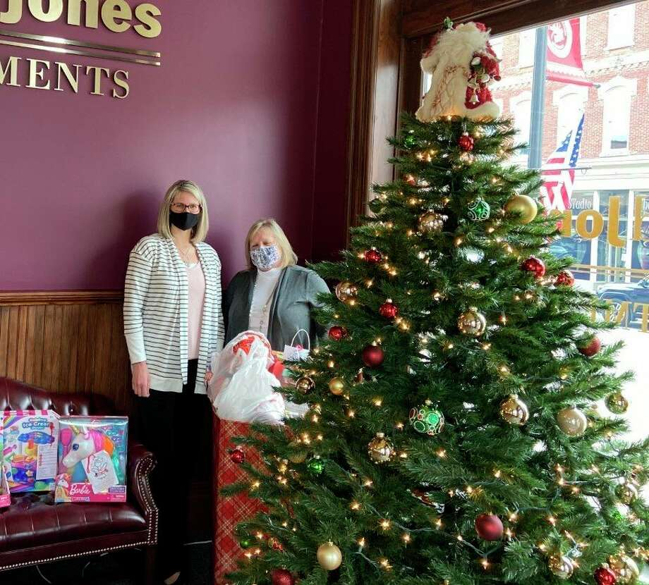 Community members Jessica Johnson and Michelle Moen are among many area residents who helped with this year's Salvation Army Angel Tree program. This program aims to donate Christmas presents to local families in need. (Courtesy photo)