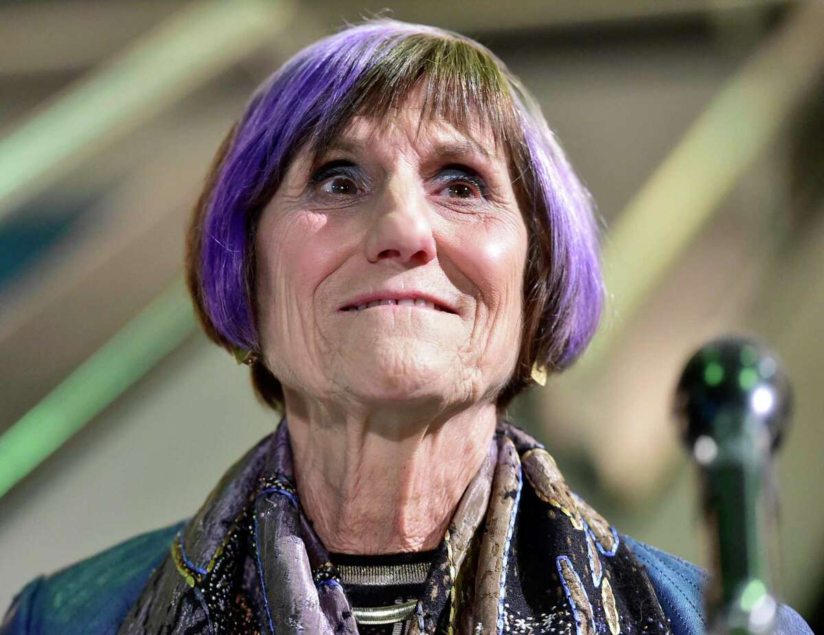 U.S. Representative Rosa DeLauro, D-3, announces in New Haven Nov. 3 she has won a 16th term in Congress. DeLauro recently was selected by the House Democratic caucus to lead the powerful Appropriations Committee.