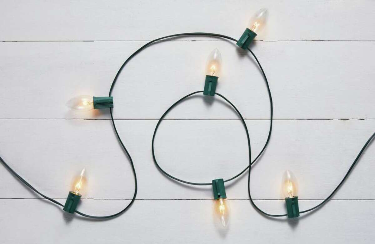 Home Accents Holiday 25 Clear Incandescent C9 Lights, $8.98 at Home Depot