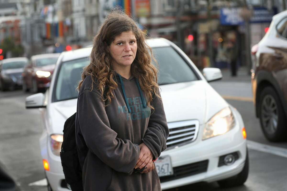 Mary Elaine Botts, photographed in January, was well known in the Castro for her disturbed behavior, but no help came.