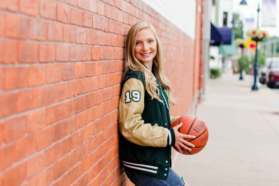 Olivia Haring poses during her senior year, 2018-19, at Clare High School. Photo: Photo Provided