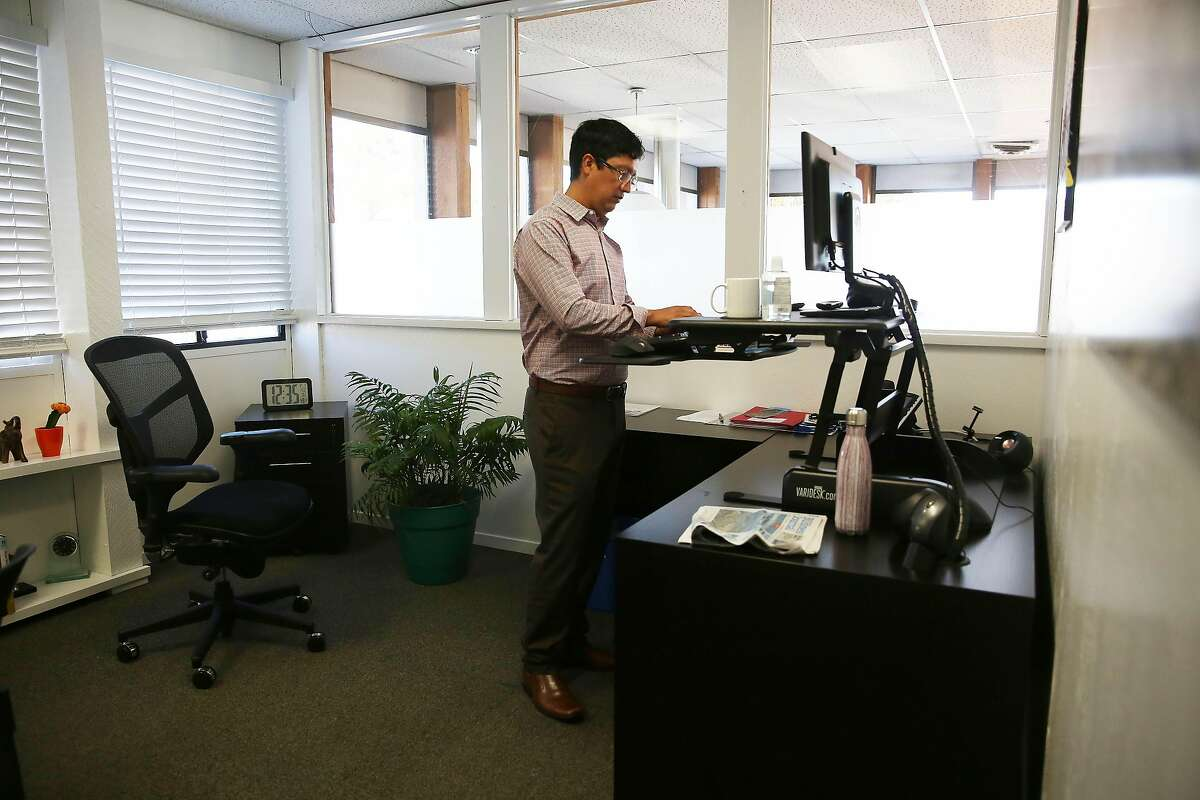 Omar Carrera, Canal Alliance chief executive officer, works in his office at the Canal Alliance on Monday, December 7, 2020 in San Rafael, Calif.