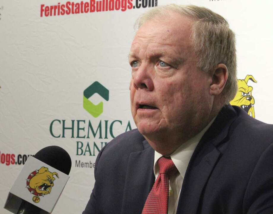 Ferris coach Bob Daniels is anxious to see how his hockey team performs today. (Pioneer file photo)