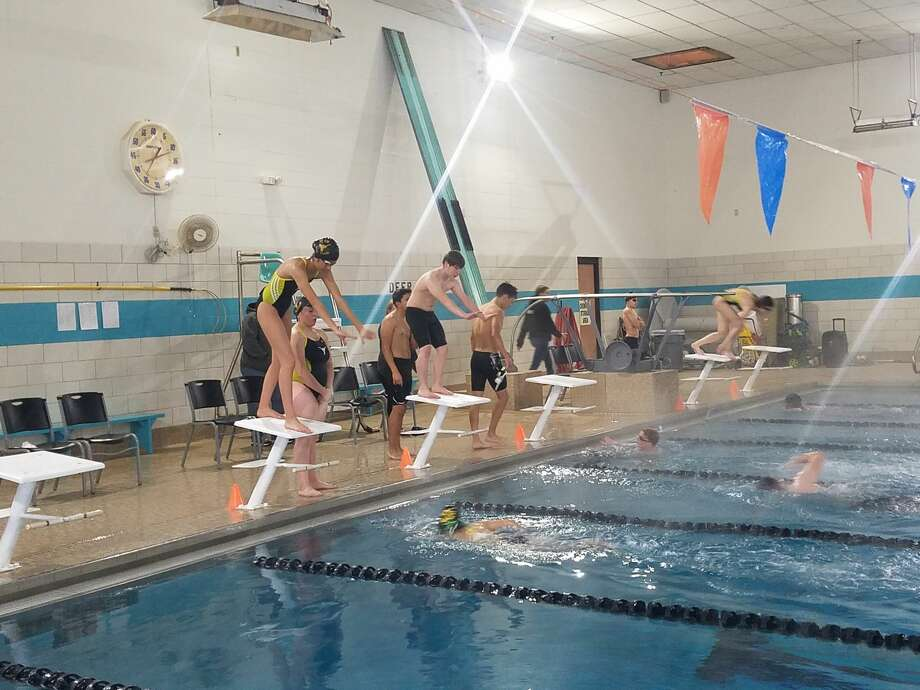 Big Spring High School swimmers get ready to compete in a double dual meet in Abilene on Saturday. Photo: Courtesy Photo