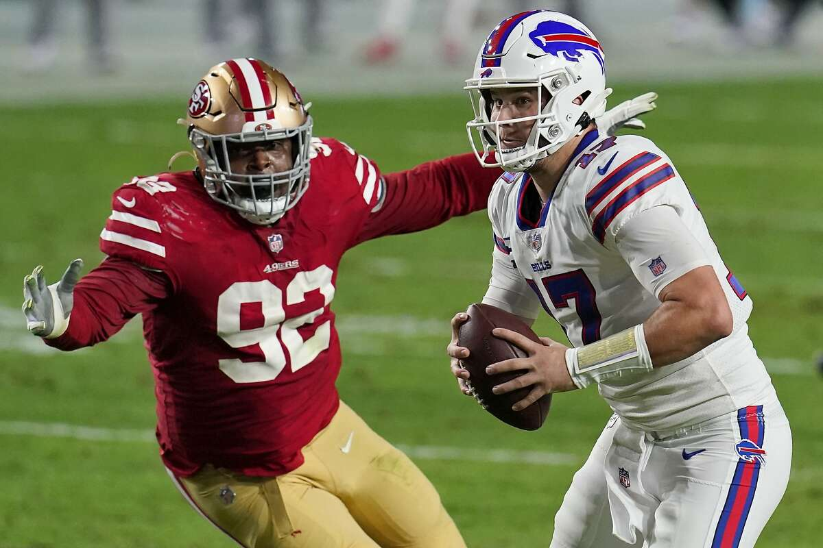 Buffalo's Josh Allen shredded the 49ers' defense in a 34-24 win in December, completing 32 of 40 passes for 375 yards and four touchdowns.