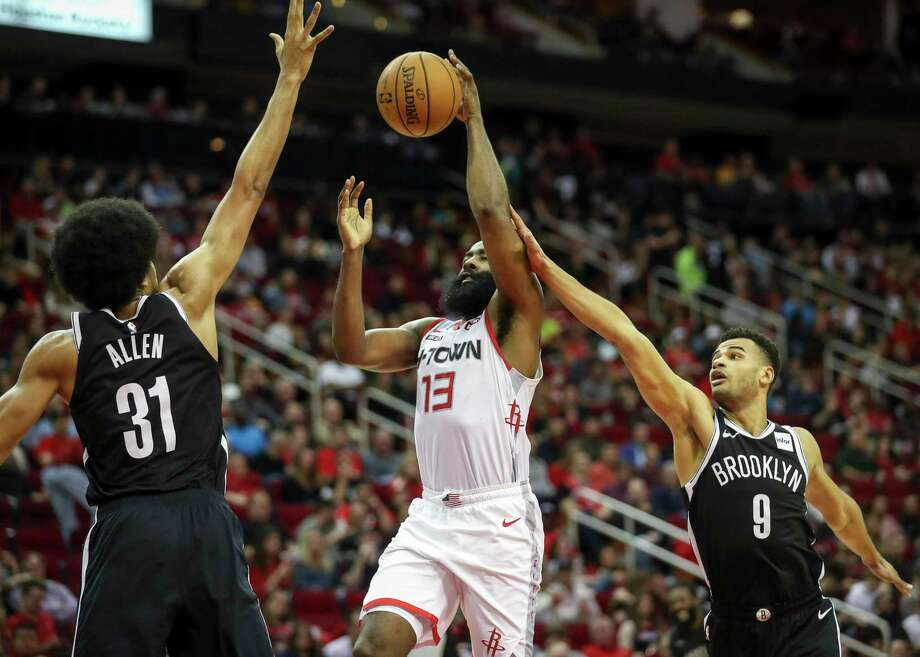 A trade of James Harden to the Nets would return a significant package to the Rockets which could include several young players like Jarrett Allen, left, along with multiple first-round draft picks. Photo: Jon Shapley /Houston Chronicle / © 2019 Houston Chronicle