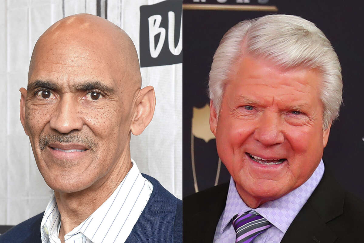 Pro Football Hall of Fame coaches Tony Dungy (left) and Jimmy Johnson are on Texans owner Cal McNair's advisory committee assisting the franchise with hiring a new general manager and coach.