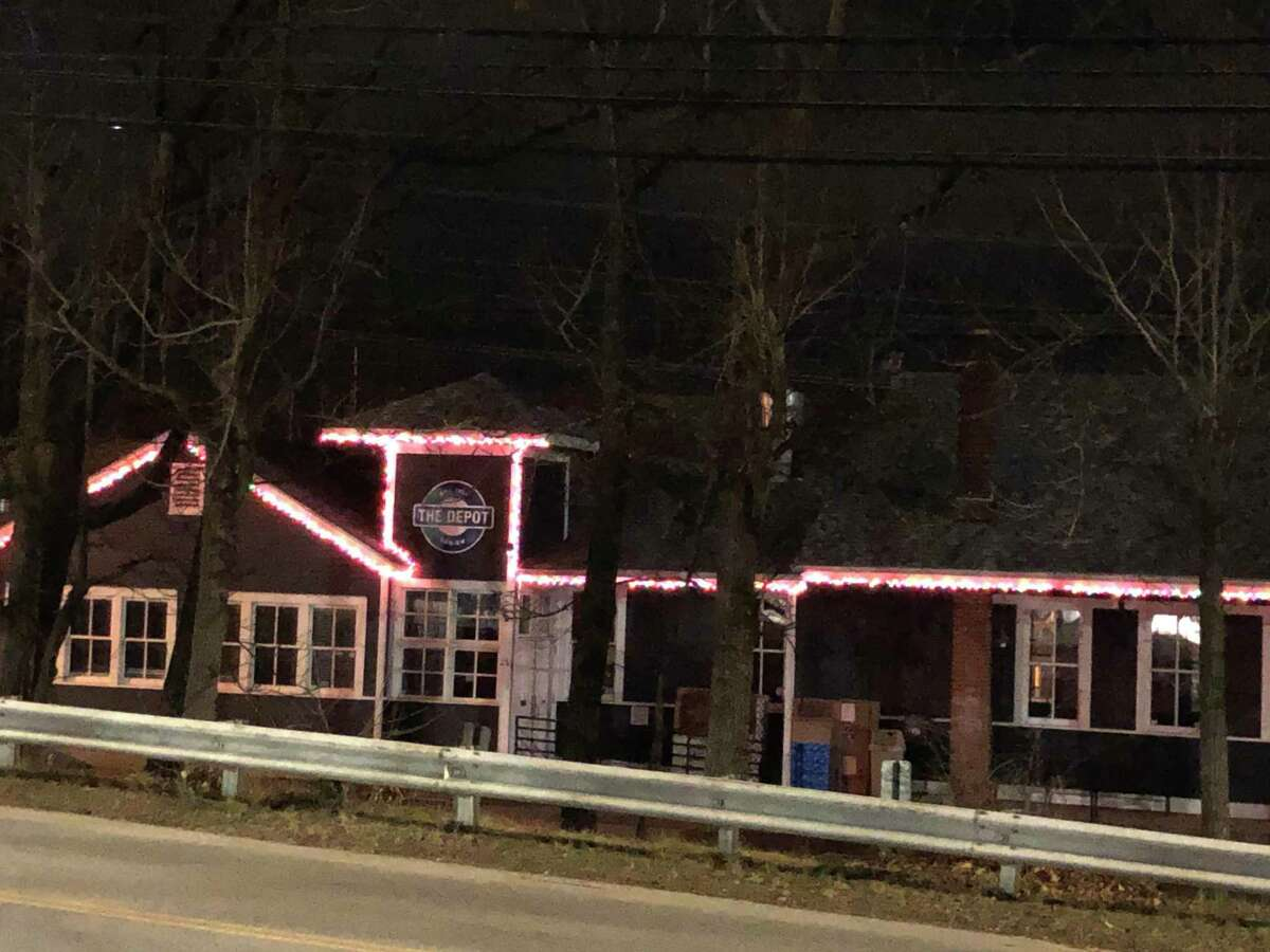 The Depot is grateful to the Noroton Heights Fire Department for helping to put Christmas lights up.