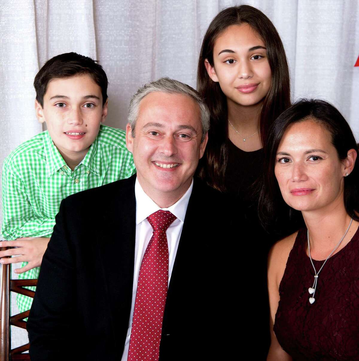 John Kydes pictured here with his wife, Naomi, daughter, Sophia, 16, and son, John, 14. Kydes, a Democrat in his fourth term on the Common Council in Norwalk, Conn., announced on Dec. 8, 2020 he's launching an exploratory committee to look into a potential run for mayor.