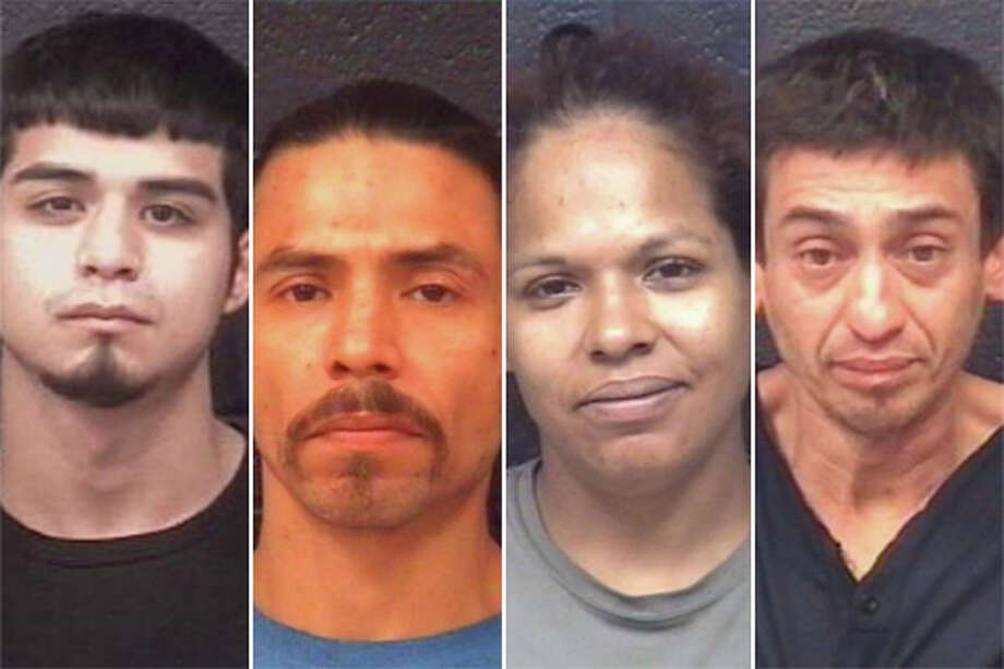 Four people were arrested in connection with two narcotics raids carried out by the Laredo Police Department on Friday. Photo: Laredo PD