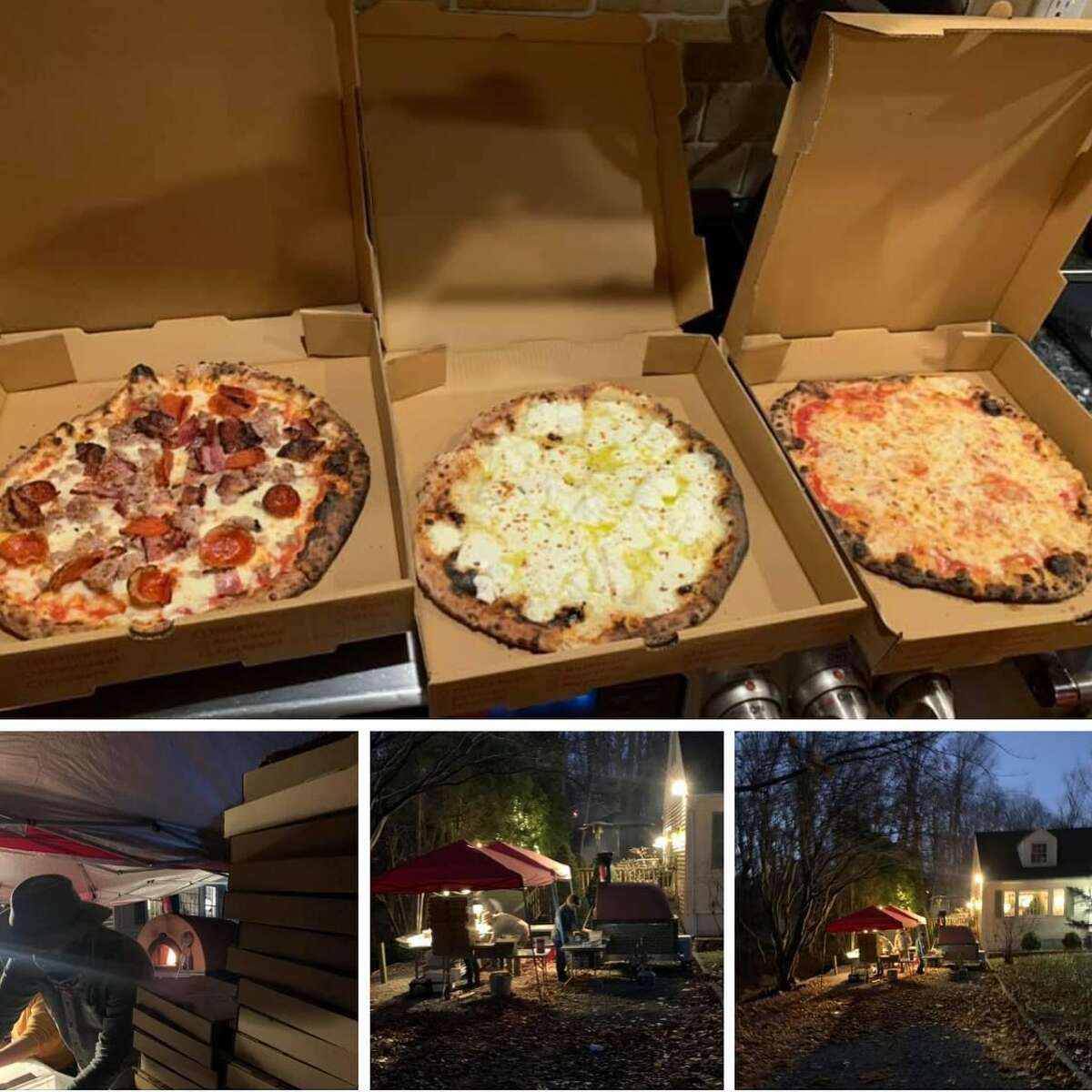 """Bailey's Backyard in Ridgefield has started a pop-up pizza business. Since September, pop-up made-to-order pizza delivery is now on the Backyard menu. Owner Sal Bagliavio and his longtime friend Frank Candullo - chief pizza maker - have created a mobile pizza-making station that travels around the area and cooks pies on site.  The two have known each other since their sons were in nursery school together and used to joke about opening up a pizza place together. """"Frank would have the school end-of-the-year party at his house where he built his own pizza oven years ago, and it was the best pizza I ever had,"""" Bagliavio said. """"We would joke around and say we should open up a pizza place someday."""""""