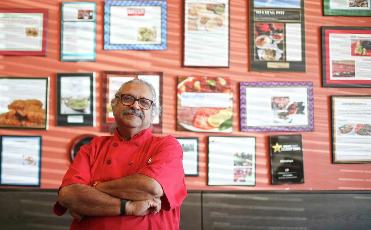 Himalaya Restaurant chef and owner Kaiser Lashkari at his Houston restaurant on Wednesday, Nov. 18, 2020. During the pandemic, Lashkari noticed his blood sugar was spiking, so he began walking, cutting carbs from his diet and now he's lost about 40 pounds.