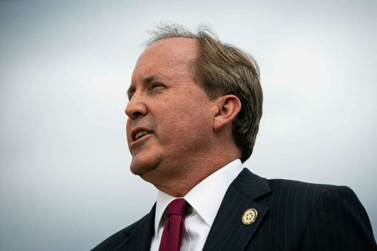 Ken Paxton, the Texas attorney general, holds a news conference outside the Supreme Court building in Washington, Sept. 9, 2019.