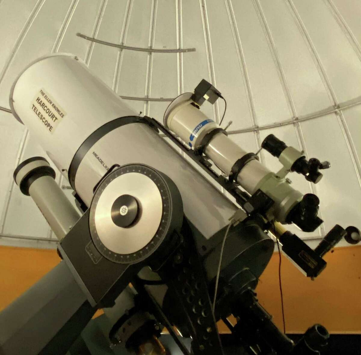 The McCarthy Observatory's main telescope was supported by the Ellen Knowles Harcourt Foundation.