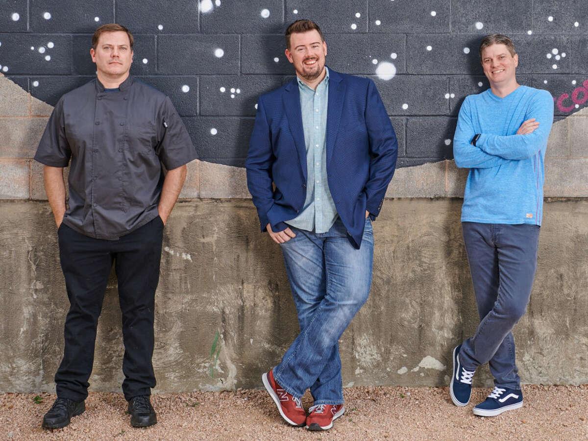 Shoot the Moon partners Dax McAnear, Kevin Floyd, and Jonas Herd.