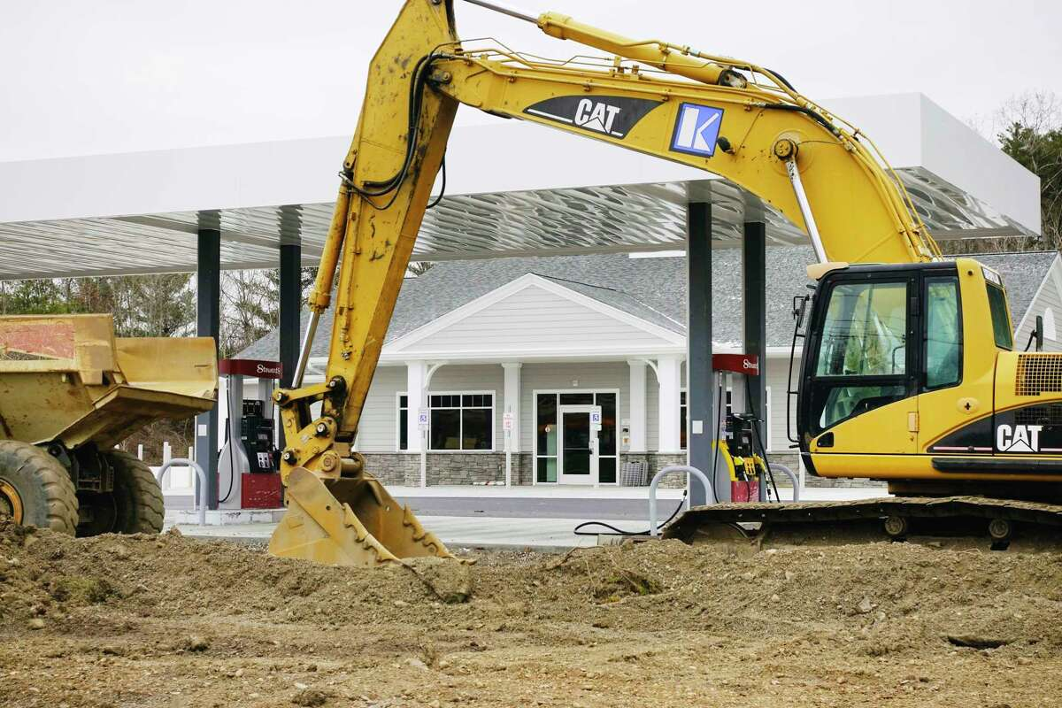 A view of a new Stewart's store being built along Columbia Turnpike on Tuesday, Dec. 8, 2020, in Schodack, N.Y. (Paul Buckowski/Times Union)