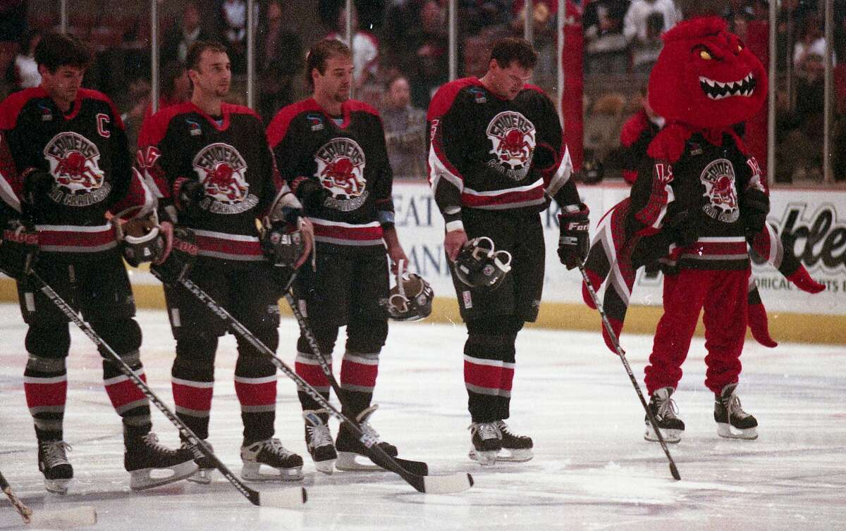 The San Francisco Spiders during their short reign in the 1990s at the Cow Palace.
