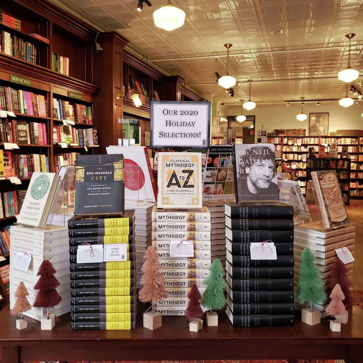R.J. Julia Booksellers in Madison offers Zoom tours for customers to browse their shelves in addition to traditional phone and email orders.