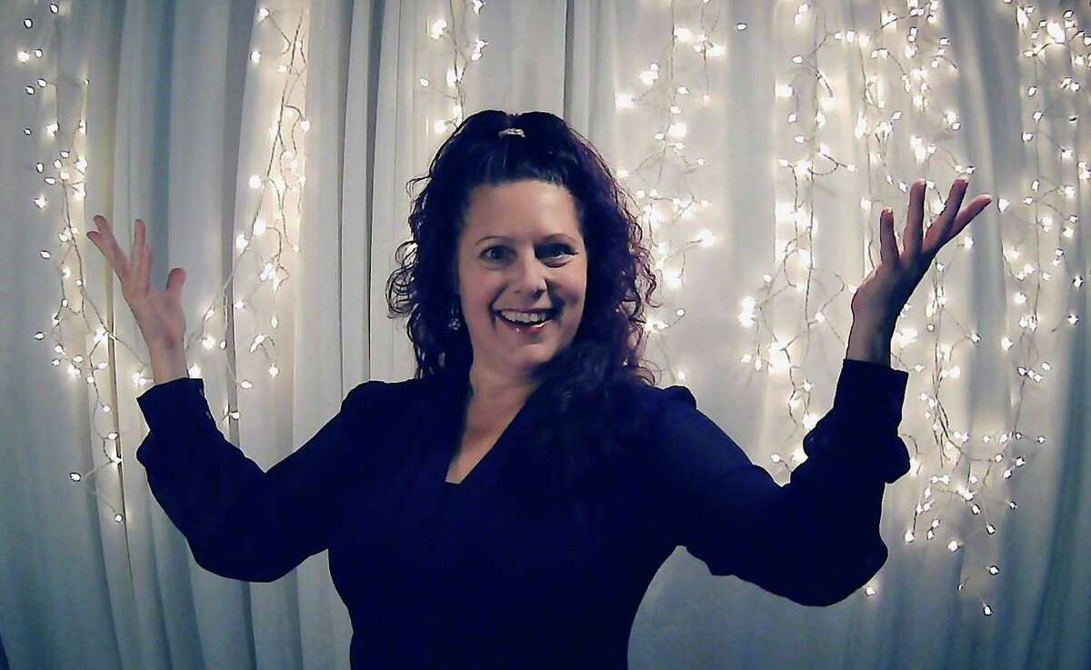 Writer and director Michele Leigh, seen here, hosts a virtual holiday fundraiser for the Town Players of Newtown, Dec 20 at 2 p.m.
