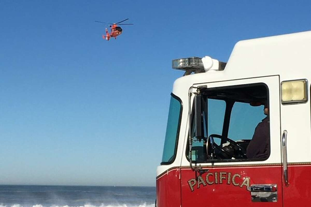 North County Fire crews and the U.S. Coast Guard searched for a water rescue victim on Dec. 8, 2020.