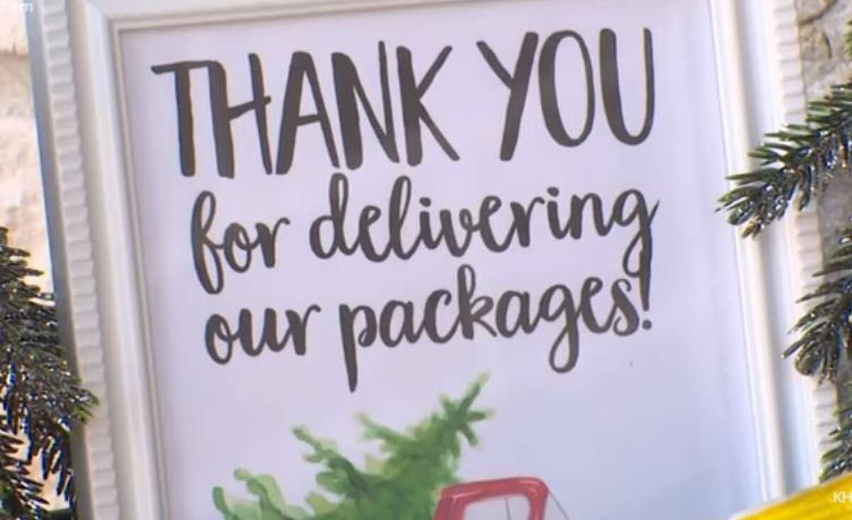 A Cypress couple are finding a way to pay it forward to everyone who they meet in their path including delivery drivers.