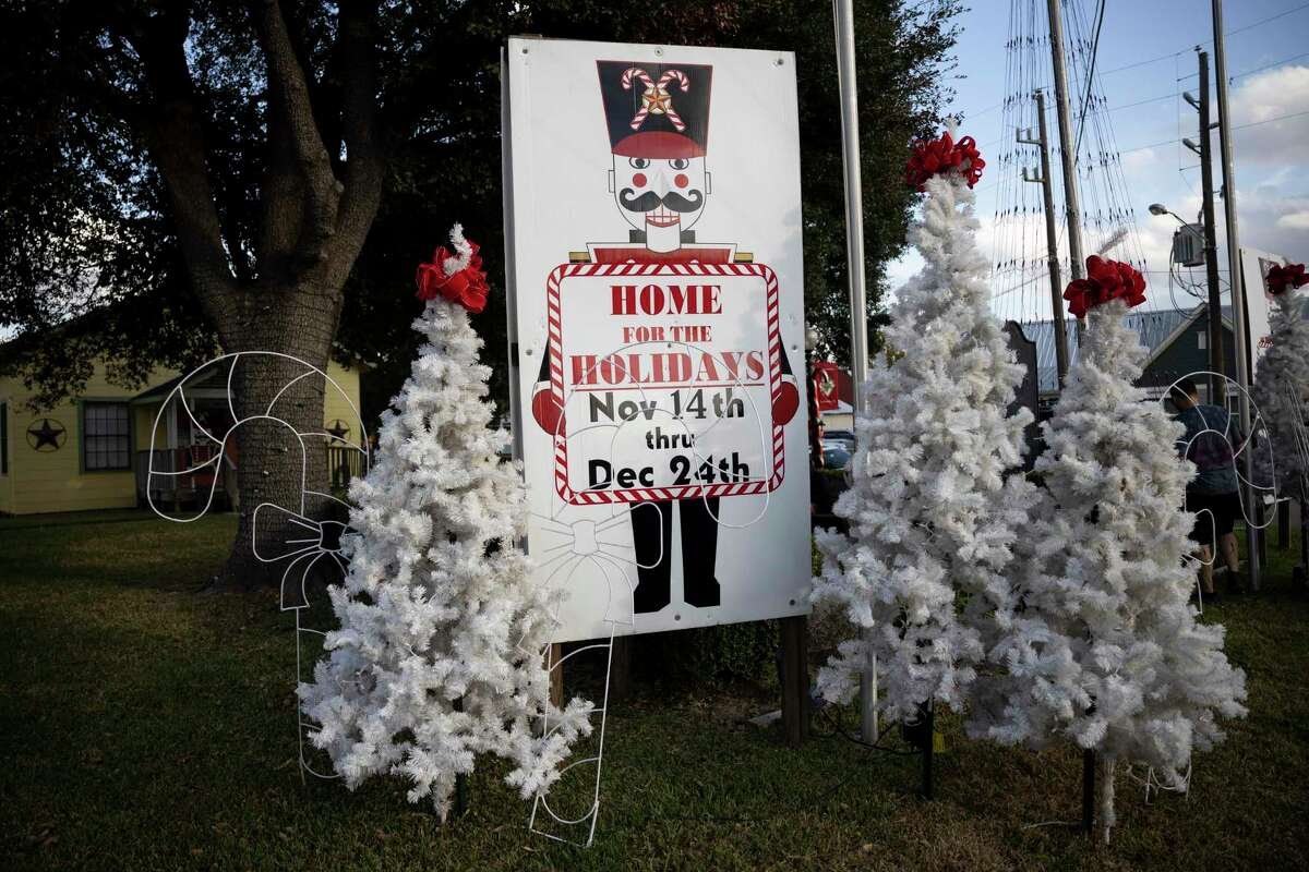 Christmas décor is placed throughout Old Town Spring for an annual event called Home for the Holidays, Saturday, Nov. 14, 2020. A tree lighting ceremony event will occur every weekend from Nov. 14 to Christmas.