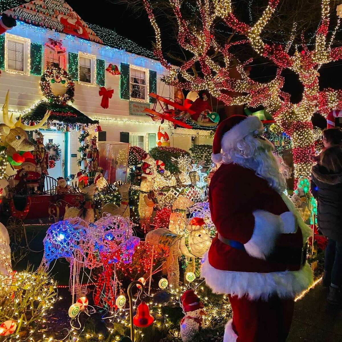 The Menashe family typically displays a gargantuan festive lighting at their home in West Seattle. Their display typically runs 5 p.m.-11 p.m. from the Sunday after Thanksgiving through January 1 at the 5600 block of Beach Drive. The Gai Family house also tends to host a large display at the 3200 block of 36th S.W.